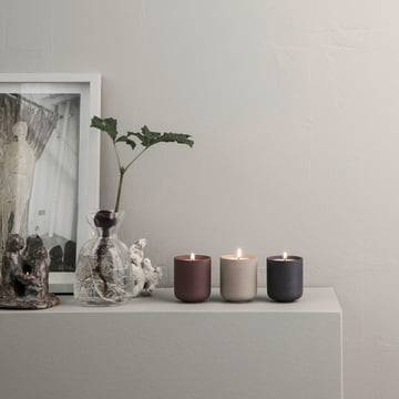 The ferm living - Sekki Scented Soy Candles Stylishly Displayed