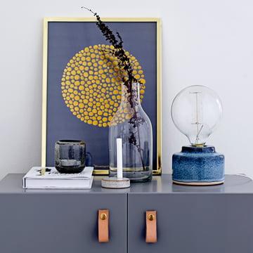 Tealight Holder Ø 7 cm by Bloomingville in grey