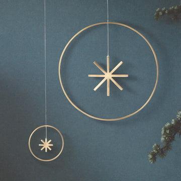 Winterland Brass Star Ornament Star by ferm Living