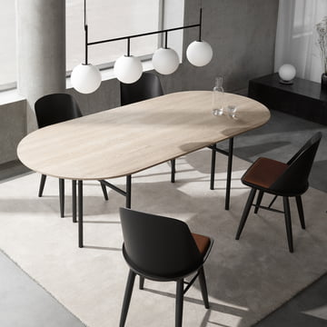 Snaregade Table and TR Pendant Lamp by Menu