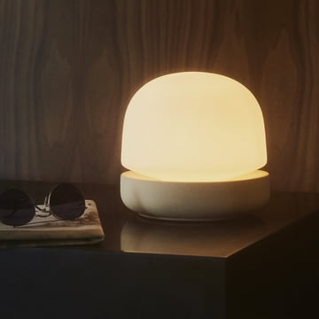 The Stone Table Lamp by Menu in Sand