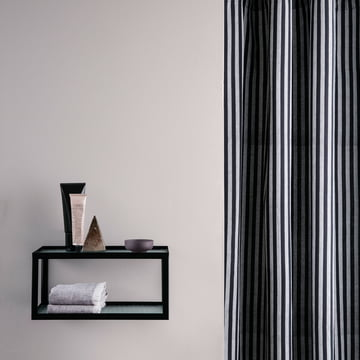 Haze Wall Shelf and Chambray Shower Curtain by ferm Living