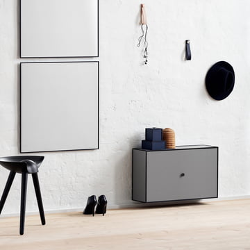 Frame Shoe Cabinet from by Lassen in Dark Grey