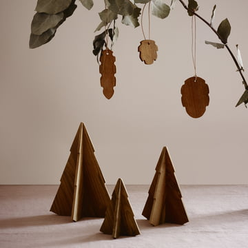 Cone Christmas Ornaments by Skagerak in Teak