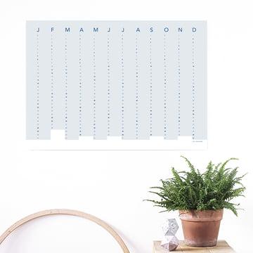 Snug.Studio - snug.column Wall Calendar 2018 in Soft Blue