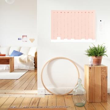 Snug.Studio - snug.column Wall Calendar 2018 in Soft Pink