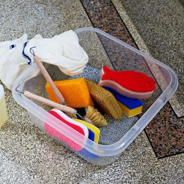 Turkish Washing Up Basin, Scourer and Lurex Sponges by Hay