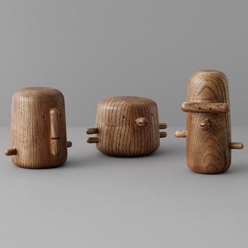 The Normann Copenhagen - Ni, San and Ichi Wooden Birds