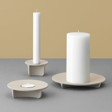 Normann Copenhagen - Fe Block Candle Holder in Light Grey