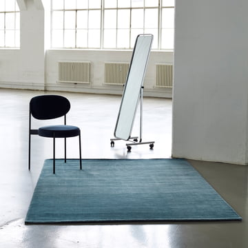 The Massimo - Bamboo Rug Placed in a Room with a Chair
