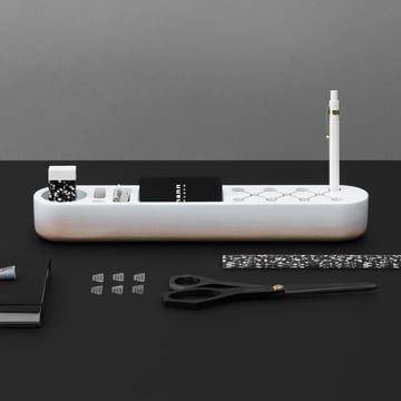The Normann Copenhagen - One Piece Organizer Classic in White with Office Stationery