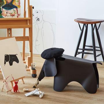 Eames Elephant by Vitra, jet black