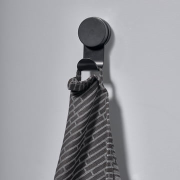 The Zone Denmark - Single Puck Hook in Black with Hand Towel