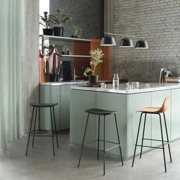 Fiber Muuto Stool Series in the Kitchen