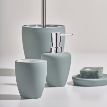 The Zone Denmark - Soft Bathroom Accessories in Dusty Green