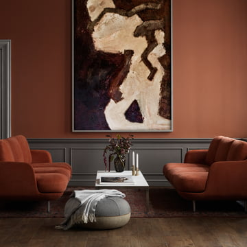 The Fritz Hansen - Pouf by Cecilie Manz Next to the Coffee Table