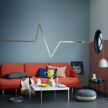 The Fritz Hansen - Pouf by Cecilie Manz in the Living Room