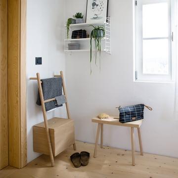 The Kommod - Lokks Ladder Shelf in the Bathroom