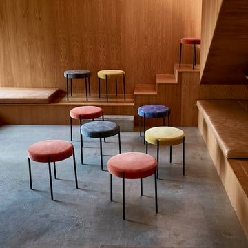 The Verpan - 430 Stools in a Group