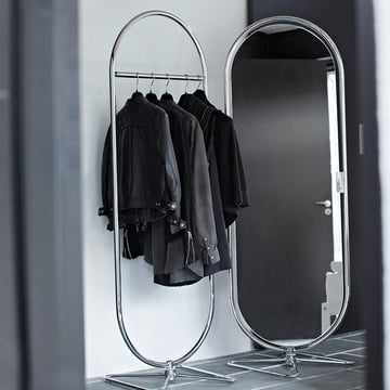 Verpan - System 1-2-3 Mirror and Coat Rack