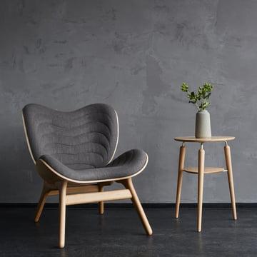 Vita - A Conversation Piece Armchair, natural oak - slate grey