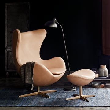 Limited Edition Fritz Hansen - Egg Chair with KAISER idell - Floor Lamp