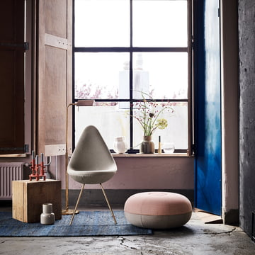 The Fritz Hansen - Drop Chair - Special 60 Years Edition Fritz Hansen