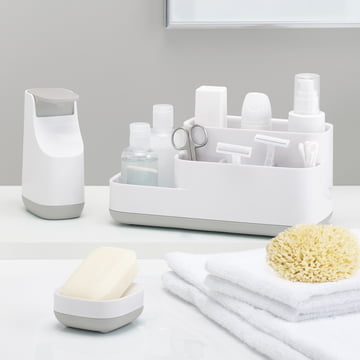 Slim Soap Dispenser, Slim Soap Dish and Easy Store Bathroom Caddy by Joseph Joseph