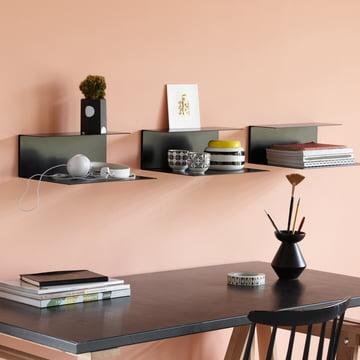 The Konstantin Slawinski - El Wall Shelf, Black Over the Desk