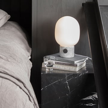 The Menu - JWDA Table Lamp, Marble on the Bedside Table