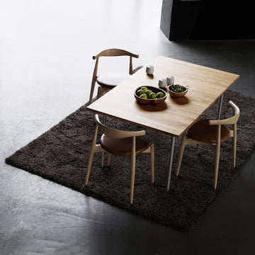 The Carl Hansen - CH20 Elbow Chair with CH322 Table