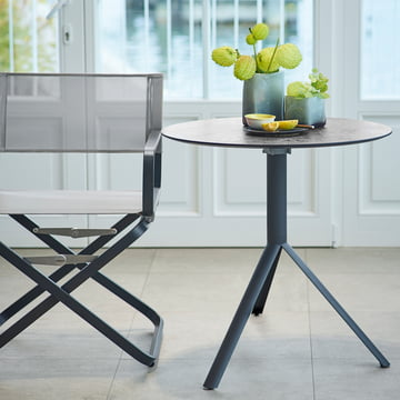 The Weishäupl - Trio Bistro Table (round) with the Ahoi Chair