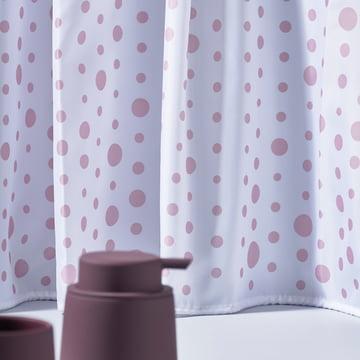 The Zone Denmark - Drops Shower Curtain, rose / white