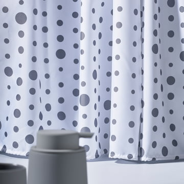 Zone Denmark - Drops Shower Curtain, grey / white