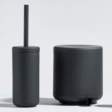 The Zone Denmark - Ume Pedal Bin 4 l and the Toilet Brush in Black