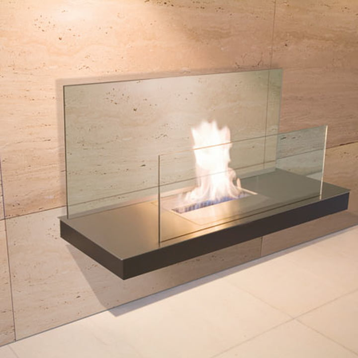 Wallflame II - Stainless steel/glass, transparent