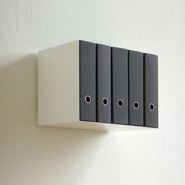 The stylish organization shelf was created in Berlin