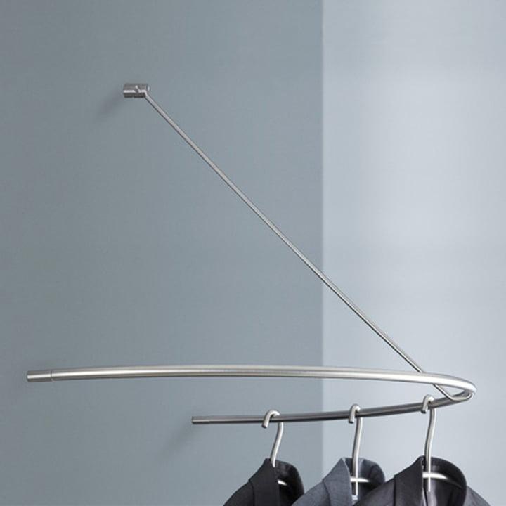 Semi-circle coat rack