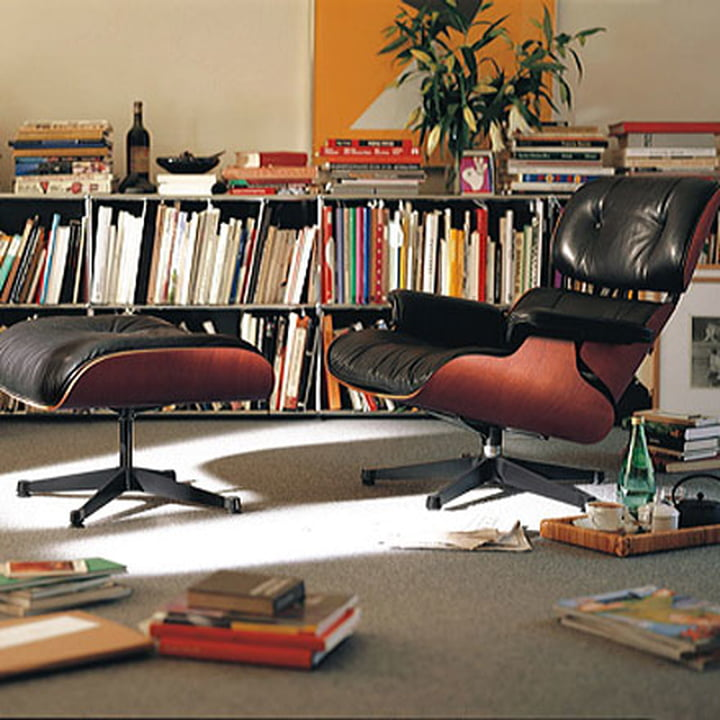 Lounge Chair and Ottoman by Vitra