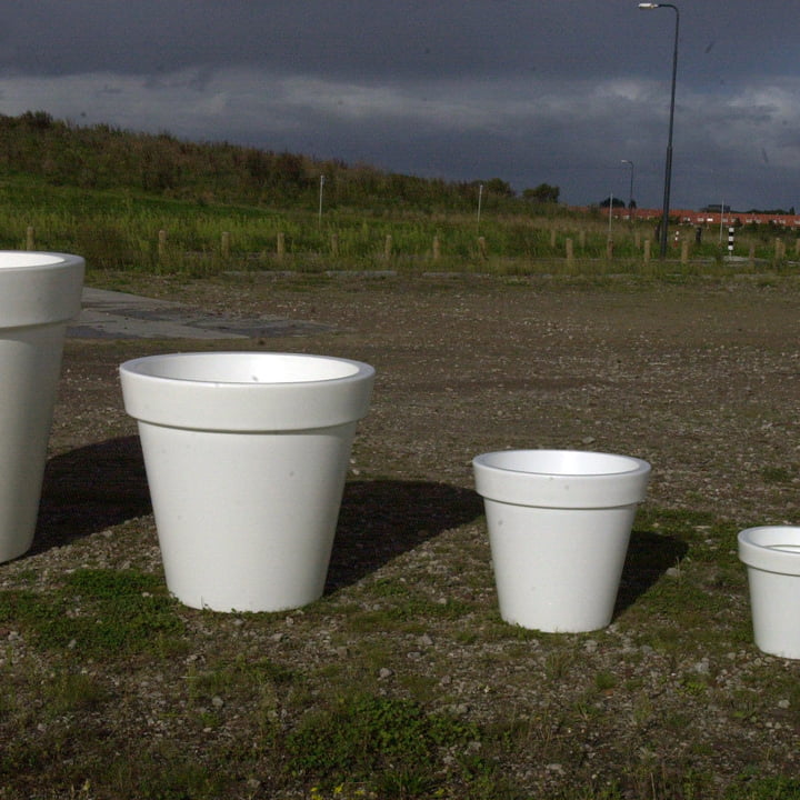 Bloom Pot without lighting, white four different sizes