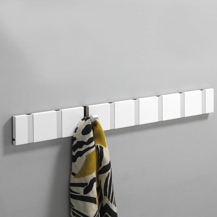 LoCa - Knax coat rack 8, white aluminium
