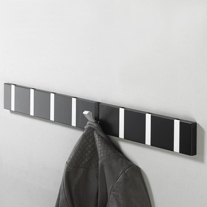 LoCa - Knax coat rack 8, black aluminium