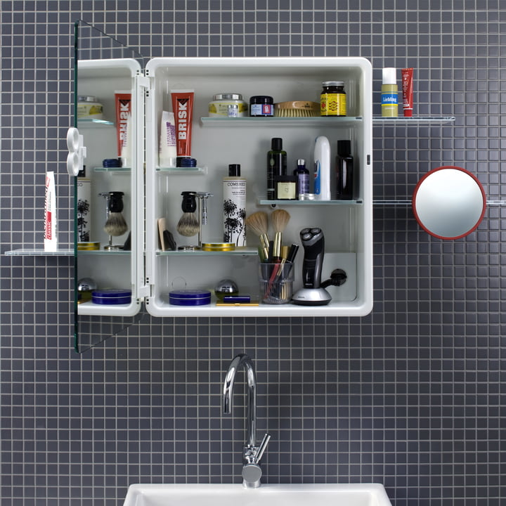 Authentics - Kali mirror cabinet opened with masculine items