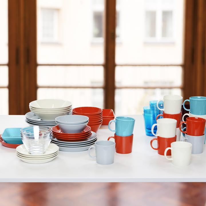 Iittala - Teema, turquoise and terracotta