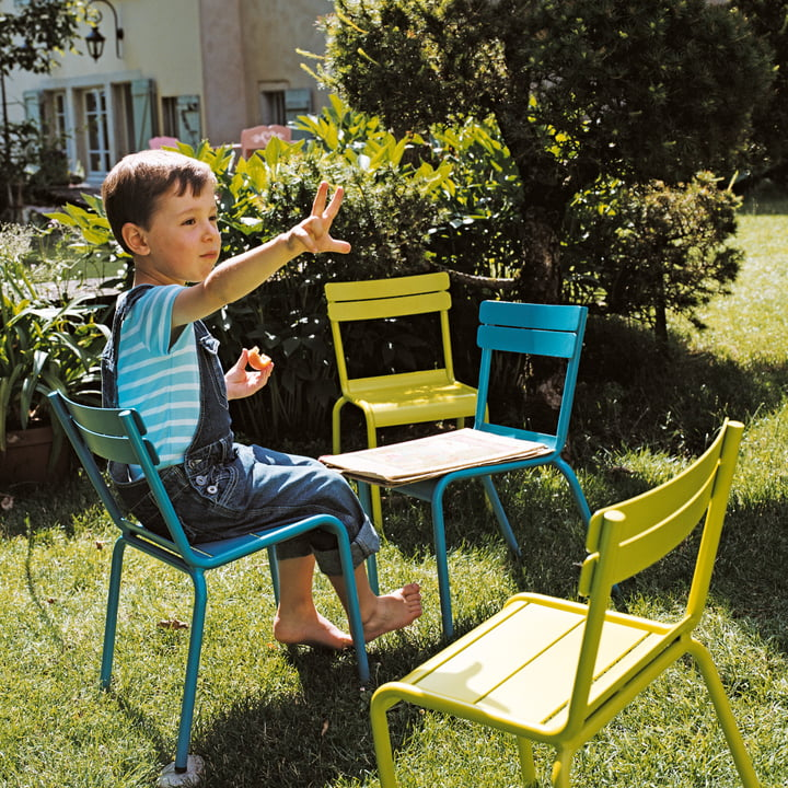 Luxembourg Kid Chair and Bench by Fermob