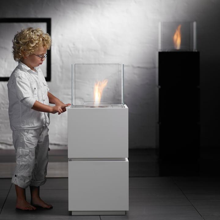 Safretti - Cube W1/B1 Fireplace - With Child