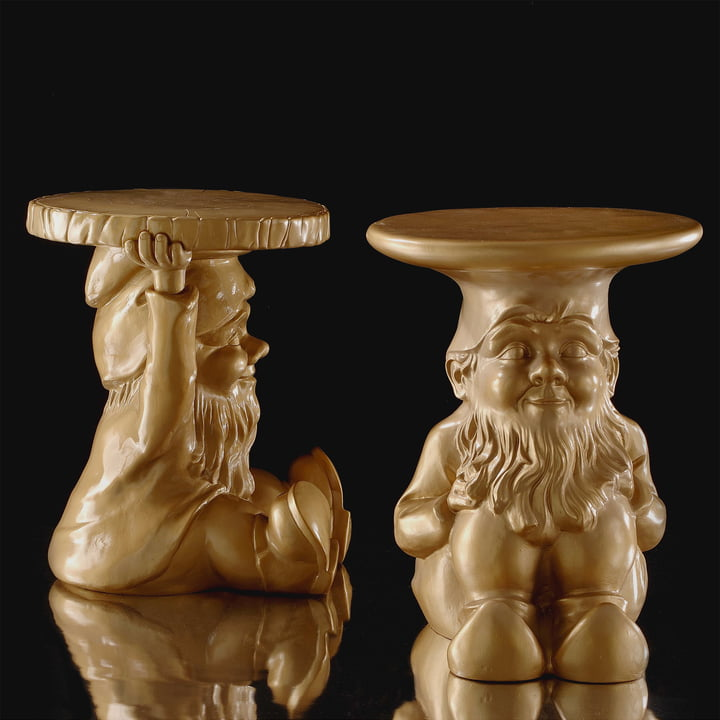 Kartell - Gnomes Side Tables Napoleon and Attila, gold