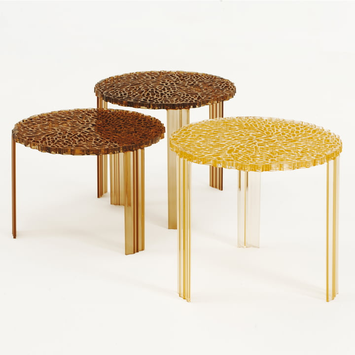 Kartell - T-Table, yellow and amber