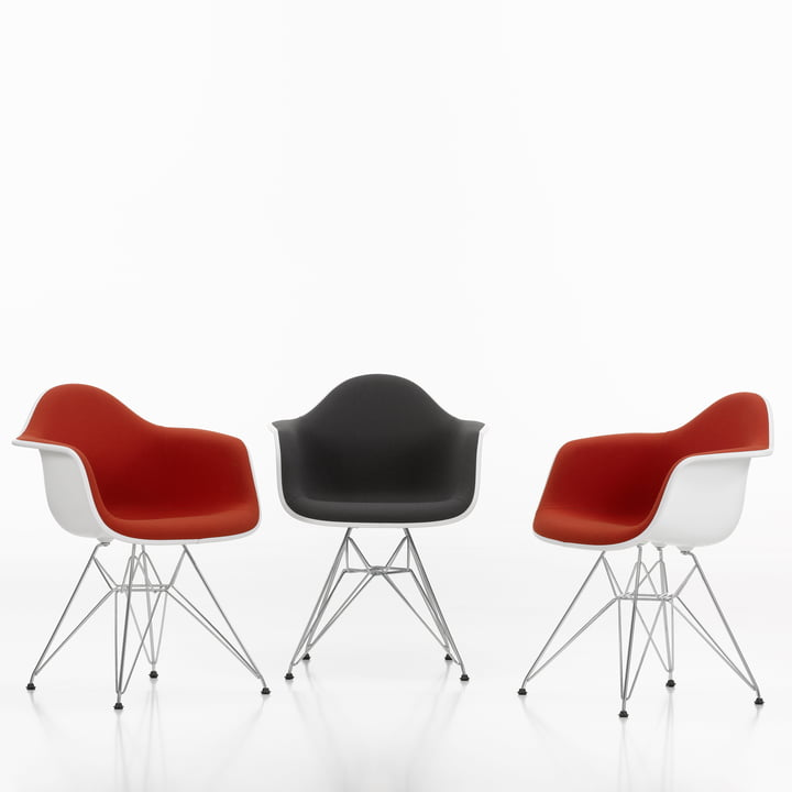 Vitra Eames Plastic Armchair Dar Upholstered