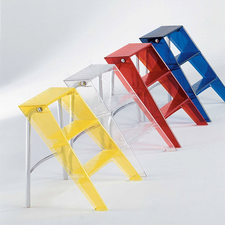 Kartell - Upper folding ladder, clear